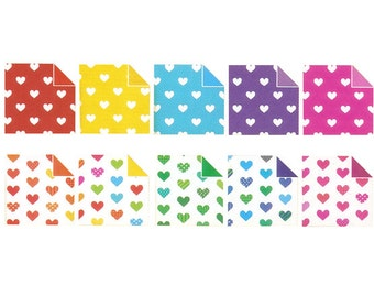 Pearl Heart Pattern II Origami Paper - Double Sided - 20 Sheets