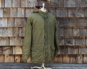 Vintage RALPH LAUREN Oiled Cloth Mountain Parka, Men's Size Large Made in USA