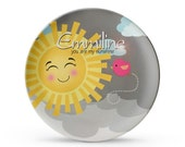 Personalized Plate, Sunshine Plate, Personalized You Are My Sunshine Birthday, Cake Plate, Melamine Dish