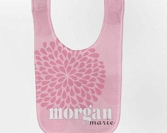 Personalized Baby Bib - Pink Mums