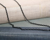 Black color Necklace 3mm ,chain, men's, women's, teens
