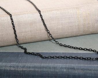 Black color Necklace 3mm ,chain, men's, women's, teens