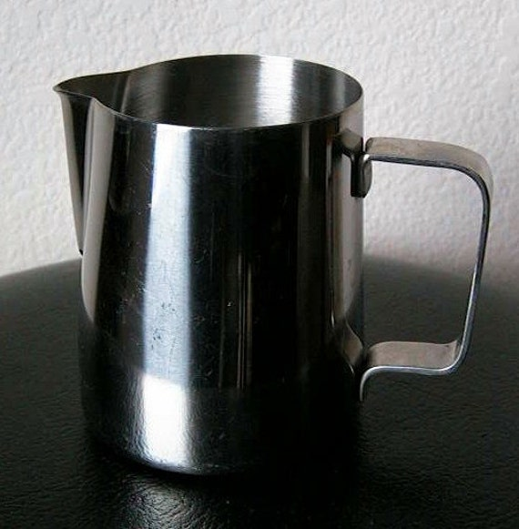 Vintage 20 Ounce Frothing Pitcher Espresso Coffee Milk Stainless Steel