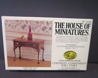 House of Miniatures Dollhouse Furniture Queen Anne Table number 40038