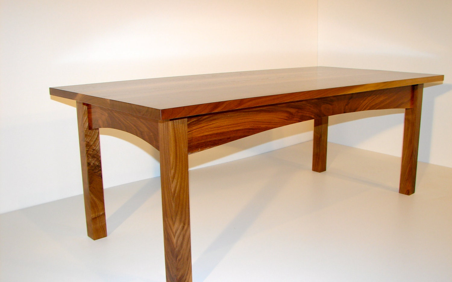 Coffee Table Walnut Craftsman Style By Burmanwoodcraft On Etsy