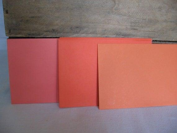 Halloween Envelopes Set of 10 Orange Color Fall Envelopes