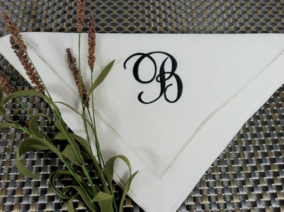 Personalized Linen Dinner Napkins - Set of Six (6)