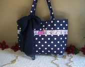 Ooh la la inspired handmade polka dot purse