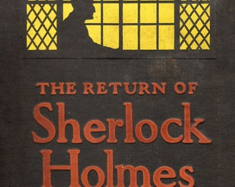 The Return of Sherlock Holmes First Edition Cover Art  - Giclee Print Reproduction.
