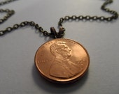 Penny Necklace - Lucky Jewelry, Customizable Coin Necklace Jewellery, Gift to honor birth year, anniversary, or any celebration