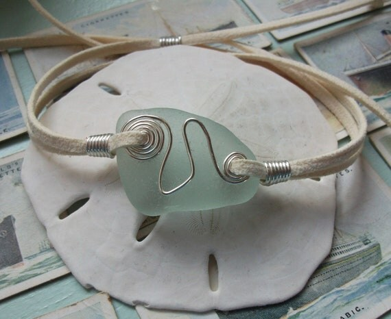 Scottish Sea Glass Surfers Bracelet Seaglass