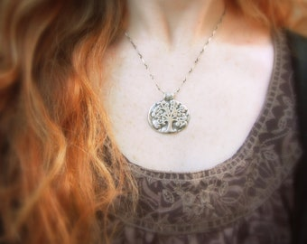 Tree of Life Necklace - Silvan Tree - Artisan Handcrafted with Recycled Fine Silver