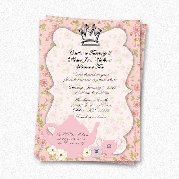 Princess Tea Party Invitations absolutely amazing ideas for your invitation example