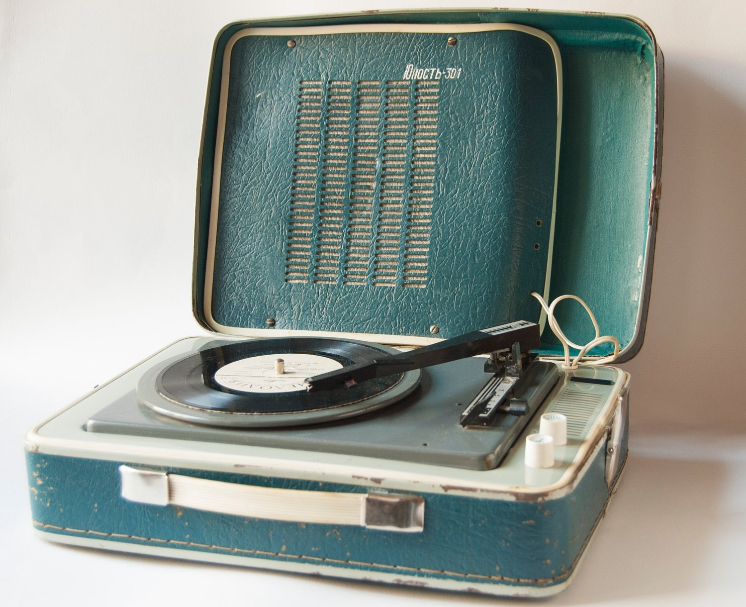 Soviet Vintage Portable Record Player 3 Speed Rare Record