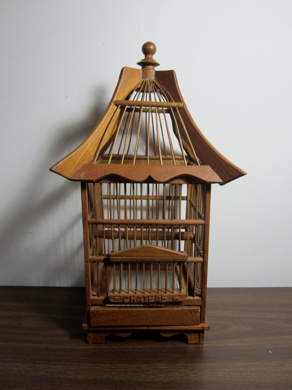Vintage Bamboo Bird Cage By Ladyninanana On Etsy