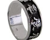 Grateful Dead Dancing Bears Ring, Sterling Silver Band Ring, Silver Ring, 925 Dancing Bear Ring, Harry Style Bears Ring, Bear Ring