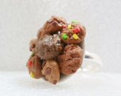 Cookies Ring. Polymer Clay.