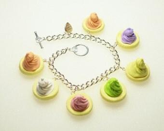 Iced Gems Biscuit Bracelet.  Polymer clay.