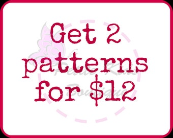 Bundle promo - Buy 2 sewing patterns with only USD12