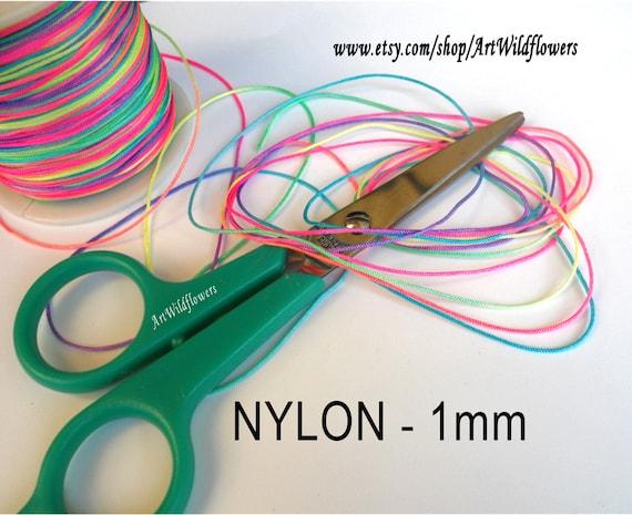NYLON Bead Cord - 1mm Beading Cord - in Rainbow Color