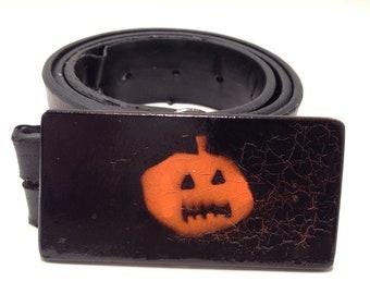 Halloween belt buckle
