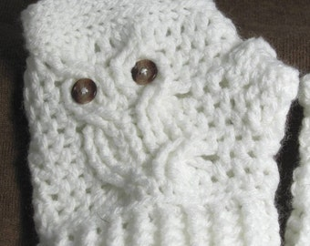 Free Crochet Pattern For Owl Hand Warmers : Popular items for owl gloves on Etsy