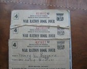 WWII  collection  Ration Book  WWII ration books  1943 food ration books  Lot of 3 ration books
