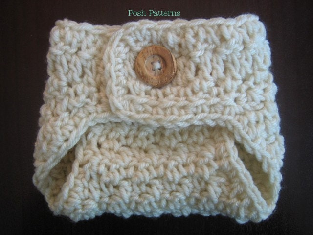 Crochet Patterns Diaper Covers : Crochet Pattern Baby Crochet Pattern Diaper by PoshPatterns