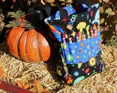 Toddler Tote -Art and Crayon Travel Bag- Rocket Ships and Stars