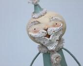 Santa Christmas Folk Art Santa Claus Decoration