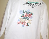 Dear Santa Does Nice-ish Count Embroidered Shirt
