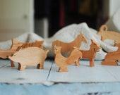 Wooden Farm Animal Sets
