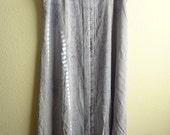 1990's Light Denim Indigo Apron Dress