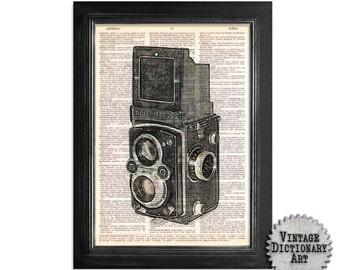 The Rolleiflex Print Series 1 - Print on Vintage Dictionary Print - 8x10.5