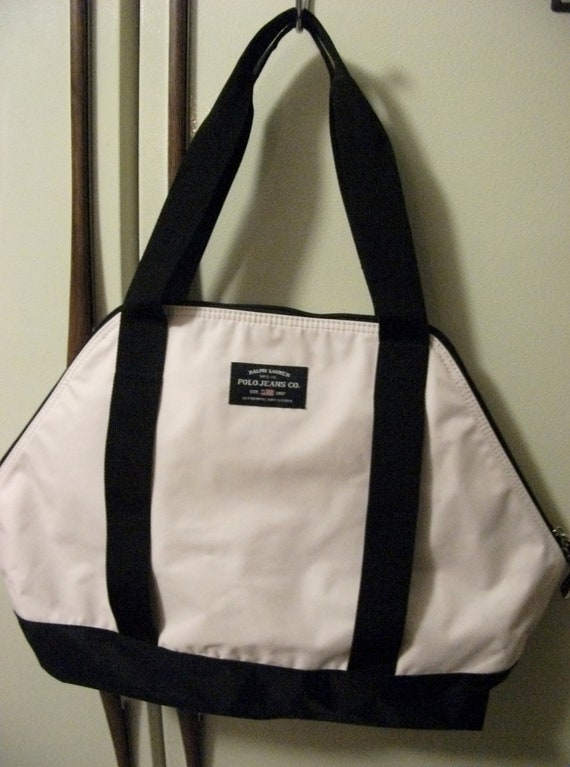 Vintage Ralph Lauren Polo Shopper Tote Bag Overnight or Gym Bag ONLY 18 USD