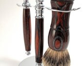Black Beard's Treasure Shaving badger hair brush and shaver set
