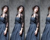 Bridesmaid black lace shrugs, Set of 4 (4 options shawls) Great for briddesmaids/ bridal party gifts. 10% off (CL300)