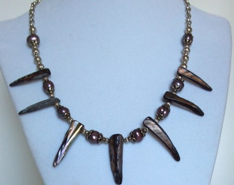 Tribal Design - Fresh Water Pearl Necklace