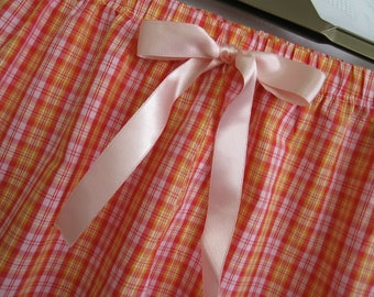Handmade Womens Pajama Pants. Sleepwear,cotton