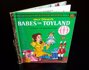 Vintage Children's Book - Babes in Toyland - 1961