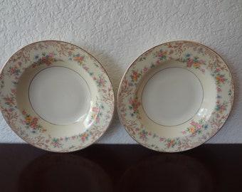 Vintage Steubenville Pottery Floral Bowls