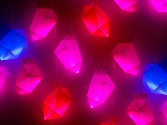 Paper Glow Gemstone Pendant diy-kit Emerald shaped