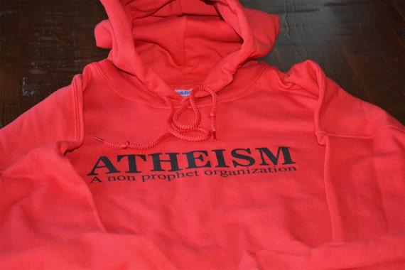 Atheism hoodie a non prophet organization athiest hooded sweatshirt science scientific funny geek evolution warm sweater unisex men women