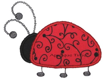 Instant Download Ladybug Machine Embroidery Applique Design 4x4, 5x7 and 6x10