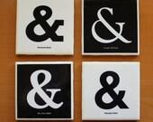 Ampersand Coasters, Tile, Set of 4
