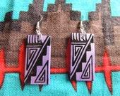 Hand Painted Native American Earrings