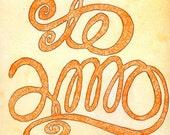 Te Amo - Original Mixed Media