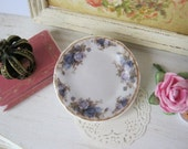 Old Blue Roses Plate for Dollhouse