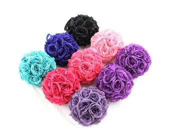 """10"""" Silk Rose Wedding Balls Pomanders for Kissing Centerpieces Decor and Party Decorations"""