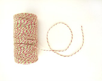 Red and Green Bakers Twine, Christmas twine, Holiday Bakers Divine Twine